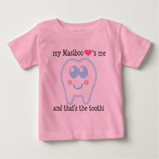 My Masiboo Loves Me Funny Tooth design Baby T-Shirt
