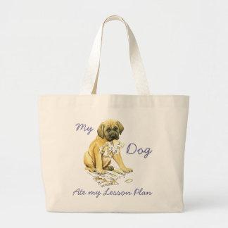My Mastiff Ate My Lesson Plan Jumbo Tote Bag