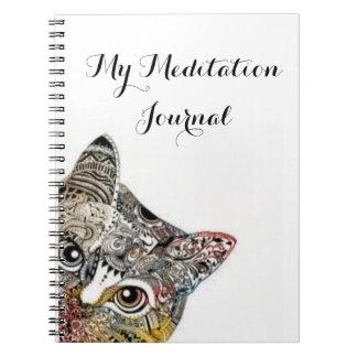 My Meditation Journal - Cat Design Notebook