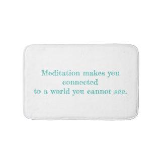 My Meditation Quote Bath Mat