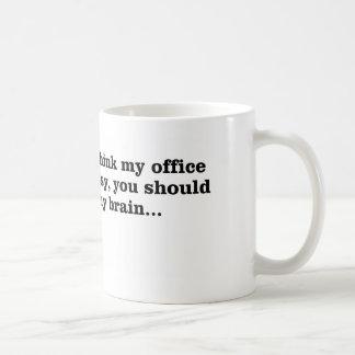 My messy office coffee mug
