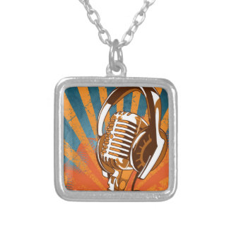 My Mic Man On Radio Silver Plated Necklace