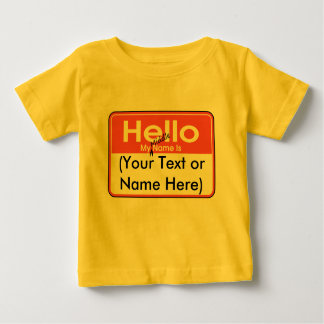 My Middle Name is (Blank) Custom and Personalized Baby T-Shirt
