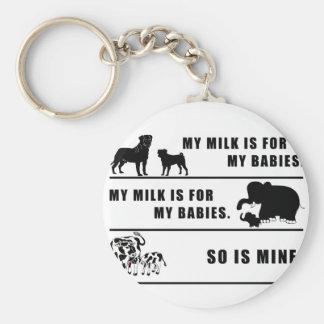 my milk is for my babies basic round button keychain