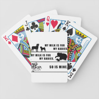 my milk is for my babies bicycle playing cards