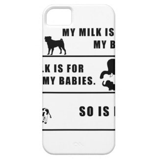 my milk is for my babies iPhone 5 cover
