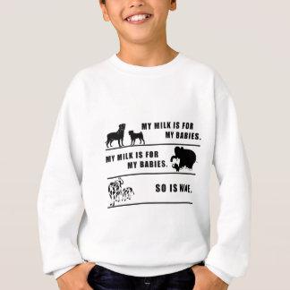 my milk is for my babies sweatshirt