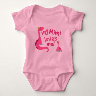 My Mimi Loves Me Dinosaur Baby Bodysuit