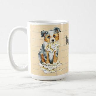 My Mini American Shepherd Ate My Homework Coffee Mug