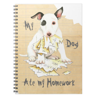 My Miniature Bull Terrier Ate My Homework Note Books