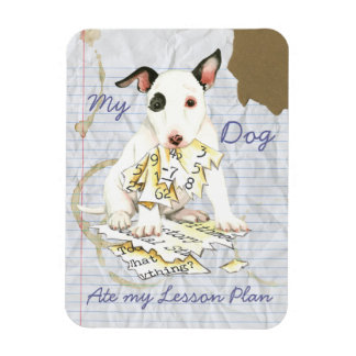 My Miniature Bull Terrier Ate my Lesson Plan Magnet