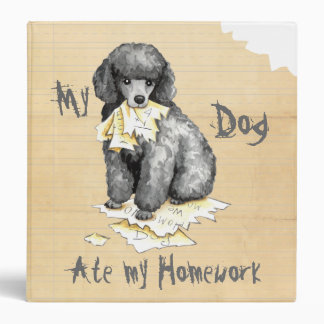 My Miniature Poodle Ate My Homework Vinyl Binder