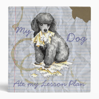 My Miniature Poodle Ate My Lesson Plan Vinyl Binders