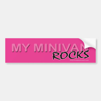 My Minivan ROCKS! Bumper Sticker