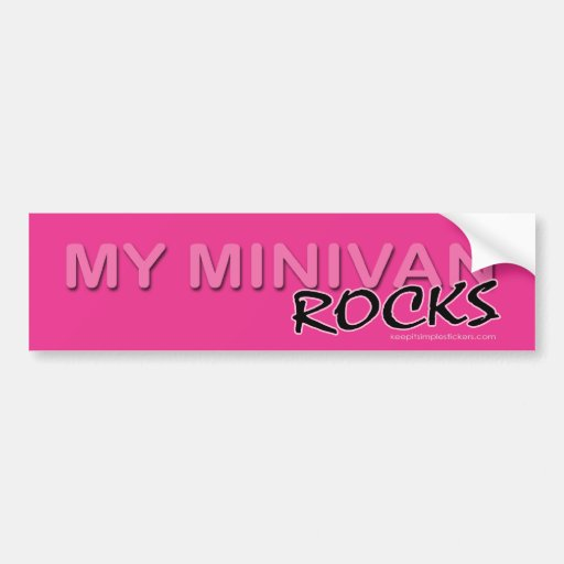 My Minivan ROCKS! Bumper Stickers