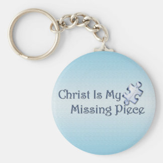 My Missing Piece Religious Basic Round Button Keychain