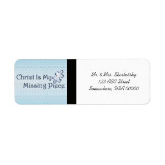 My Missing Piece Religious Return Address Label