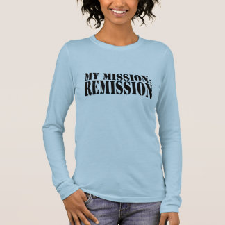 MY MISSION: REMISSION Ladies Long Sleeve (Fitted) Long Sleeve T-Shirt