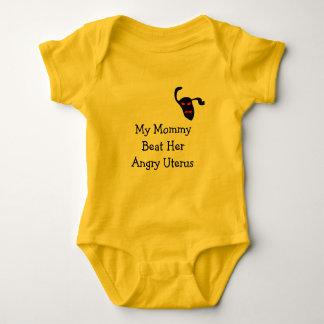 My Mom beat her angry uterus Baby Bodysuit