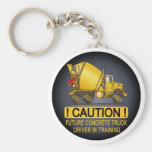 My Mom Drives A Concrete Truck Infant Creeper Basic Round Button Keychain