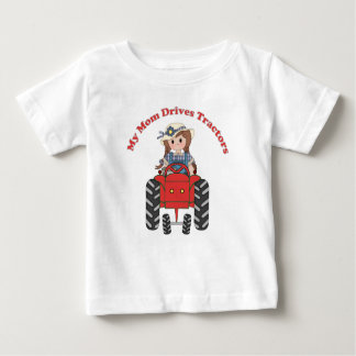 My Mom Drives Tractors Baby T-Shirt