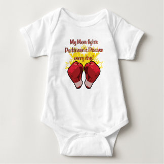 My Mom fights PD every day! Baby Bodysuit