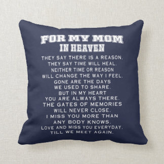 My Mom In Heaven Throw Pillow