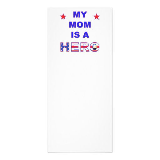 My Mom Is A Hero Custom Rack Cards