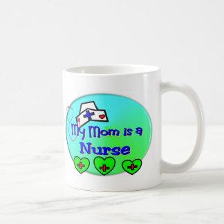 """MY MOM is a nurse""  For Nurses kids Coffee Mugs"