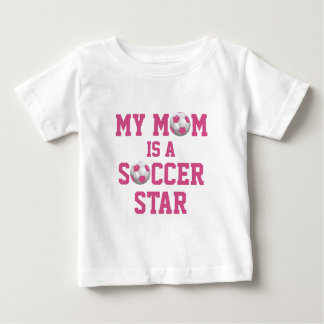 My Mom is a Soccer Star Soccer Ball Pink and White Tees