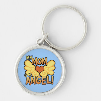 My Mom Is an Angel Keychain