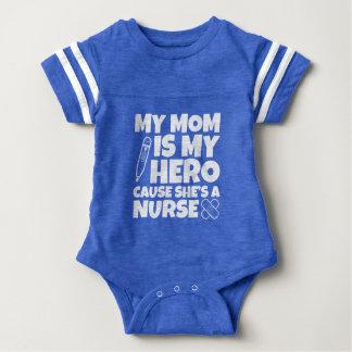My Mom is my Hero cause she's a Nurse Baby Bodysuit