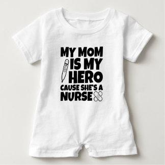 My mom is my hero cause she's a nurse baby shirt