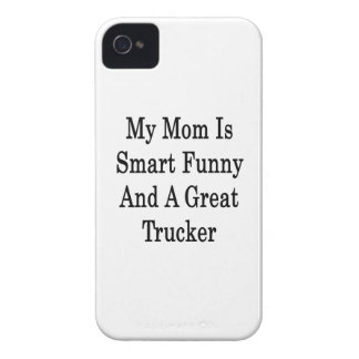My Mom Is Smart Funny And A Great Trucker iPhone 4 Case-Mate Cases
