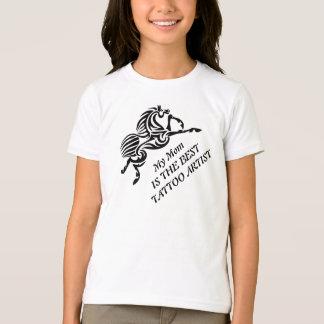 My Mom Is The Best Tattoo Artist Zebra Horse T-Shirt