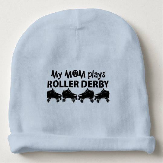 My Mom plays Roller Derby, Roller Skating Baby Beanie