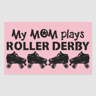 My Mom plays Roller Derby, Roller Skating Sticker
