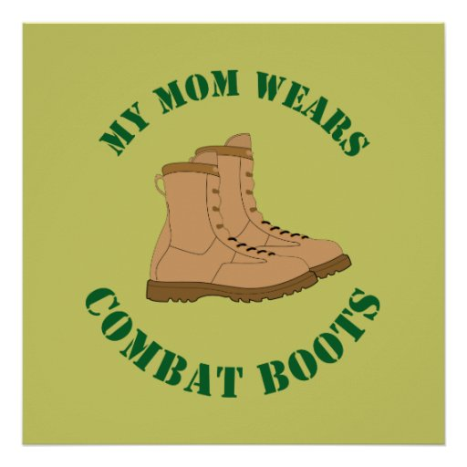 My Mom Wears Combat Boots - Poster