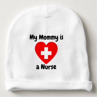 My mommy is a nurse baby hat baby beanie