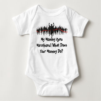 My Mommy Runs Marathons. What Does Your Mommy Do? Baby Bodysuit