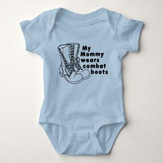 My Mommy Wears Combat Boots Baby Bodysuit
