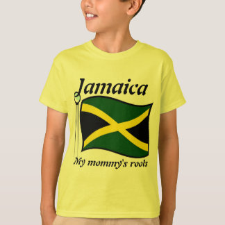 My mommy's roots jamaica kids t-shirts