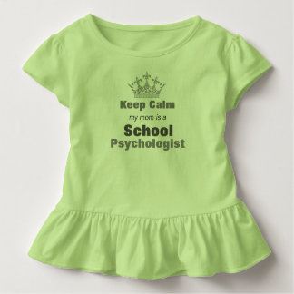 My Mom's A School Psychologist Toddler Ruffle Tee