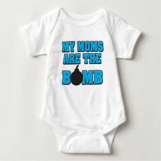 My moms are the bomb baby boy shirt