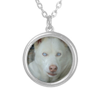 My Mona lisa eyes Silver Plated Necklace