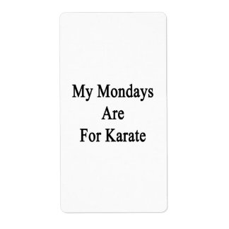 My Mondays Are For Karate Shipping Labels