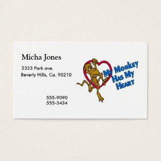 My Monkey Has My Heart Business Card