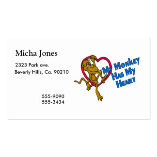 My Monkey Has My Heart Pack Of Standard Business Cards