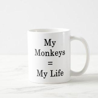 My Monkeys Equals My Life Coffee Mug
