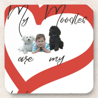 My Moodles are my Best Friends Coaster